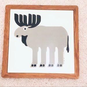 """Vintage Taylor & Ng """"Moose' Trivet Wall Tile"""